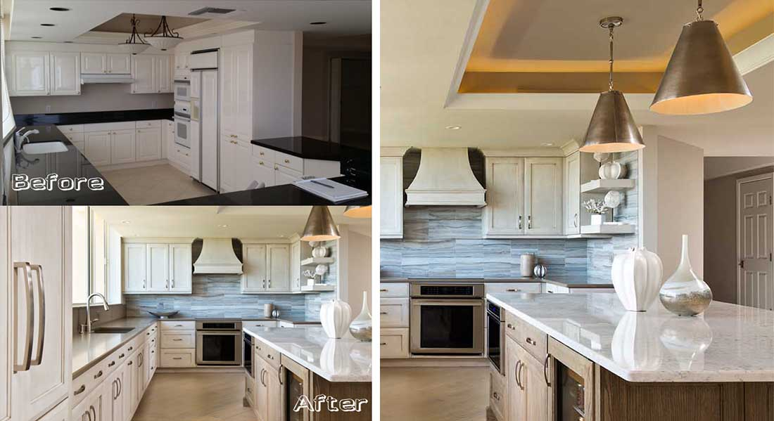 naples kitchen and bath luxury home remodel kitchen before and after - Before And After Home Remodel