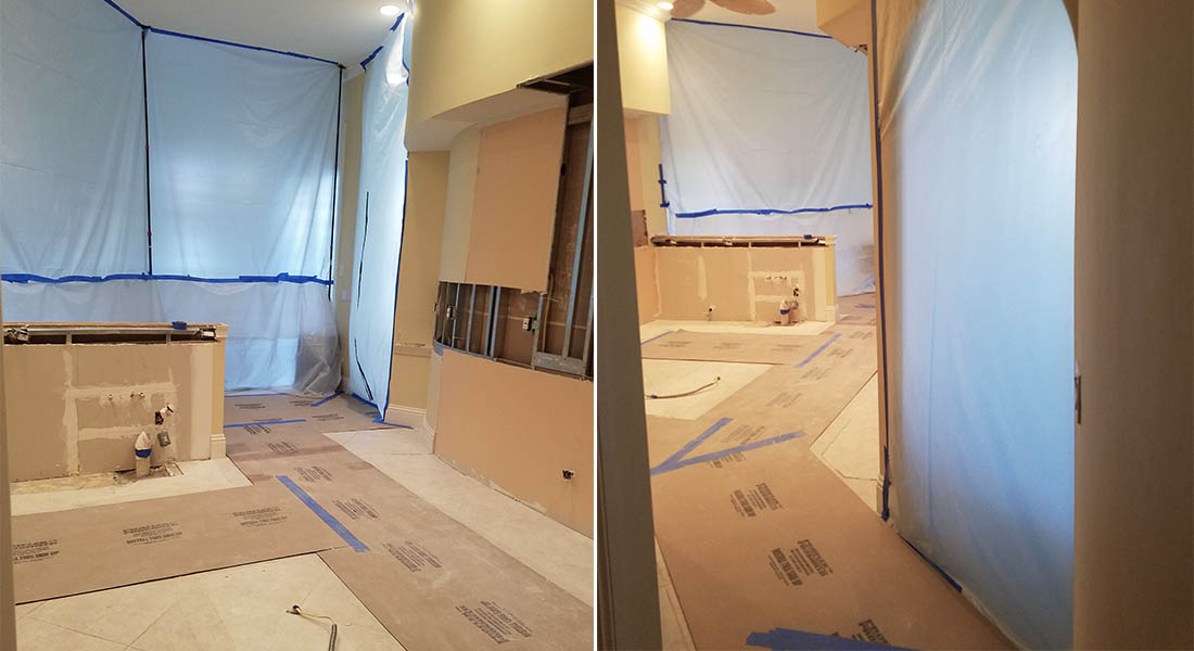 How We Reduce Dust During A Renovation Naples Kitchen Bath - Bathroom remodel naples fl