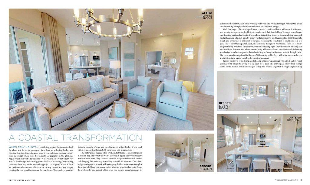 2019 Your Home Magazine Feature Article - Naples Kitchen & Bath