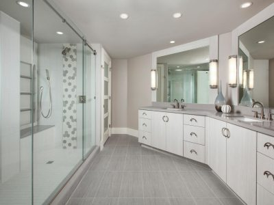 Luxury Bathroom Remodel by Naples Kitchen and Bath - St. Laurent Tower 4 at Pelican Bay